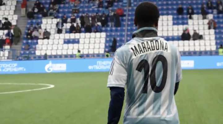 El baile tributo a Maradona de un delantero ghanés