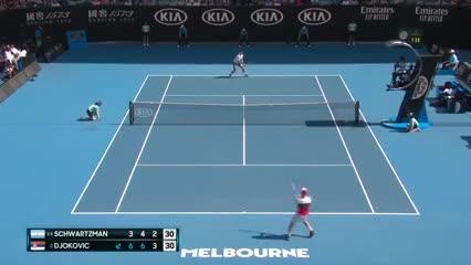 Puntazos entre Schwartzman y Djokovic