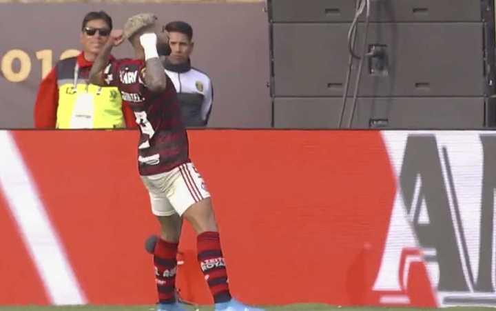 Gabigol empató el partido faltando poco