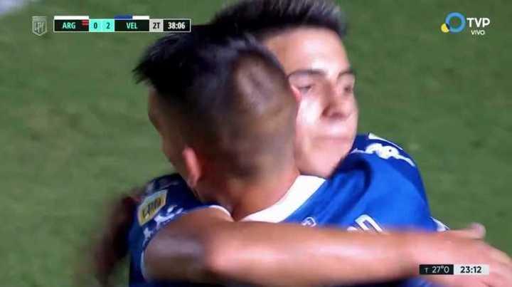 Almada marcó el segundo para Vélez