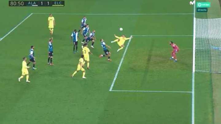 El gol anulado a Carrillo