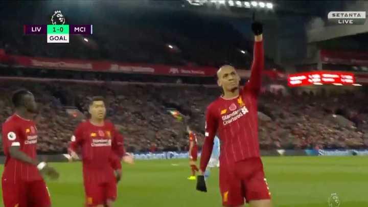Fabinho marcó el primero para el Liverpool