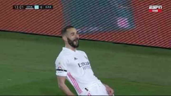 Benzema, de taco, puso el 1-0