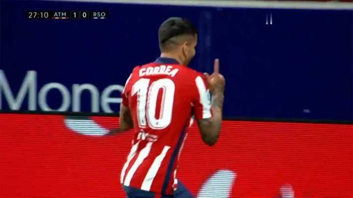 El Atlético Madrid le ganó por 2 a 1 a Real Sociedad