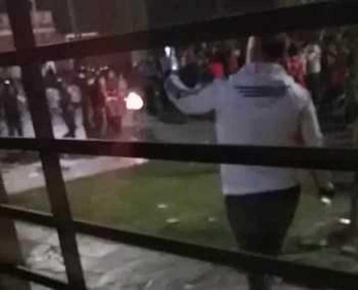 Así le tiró la Policía a la gente