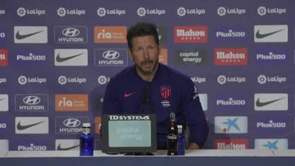 Simeone habló antes de enfrentar al Barsa