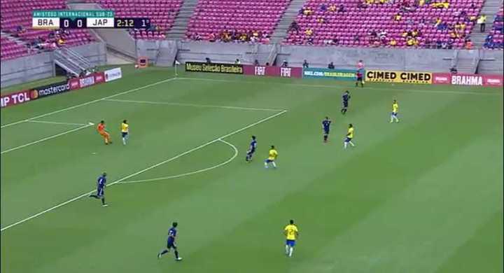 Blooper japonés contra Brasil
