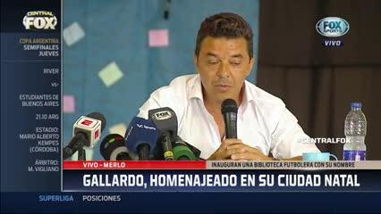 La emoción de Gallardo, el