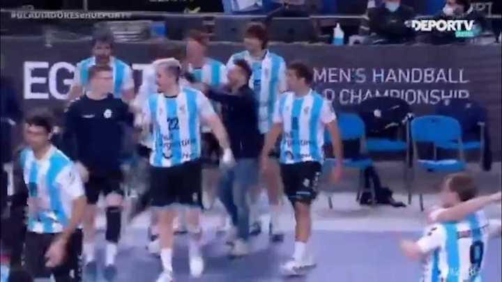 Victoria de Argentina ante Japón en el Mundial de Handball