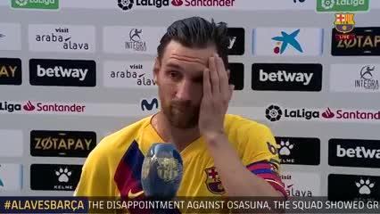Leo Messi habló luego del 5-0 al Alavés