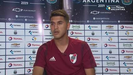 Palacios, su primer gol oficial y qué aprendió con Gallardo.
