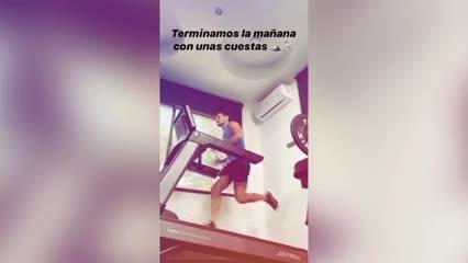 El entrenamiento de Mauro Zárate