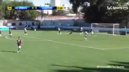 Patricio Rodríguez marcó el único tanto de la tarde