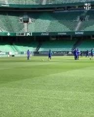 Messi prueba para la Supercopa