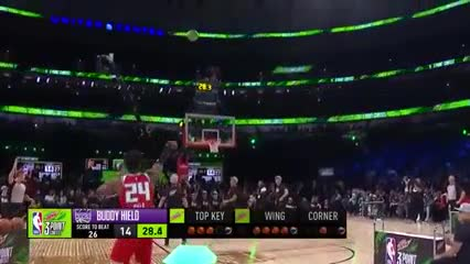 Buddy Hield ganó el concurso de triples en el All Star Game