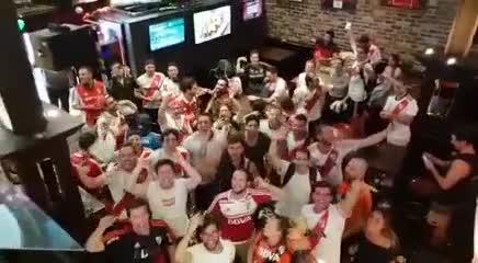 Los festejos en Australia luego de ganar la final en Madrid