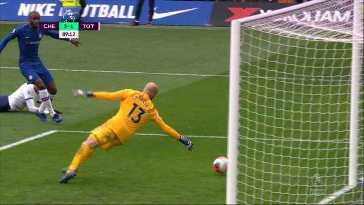 Lamela provocó el gol en contra de Rudiger