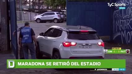 Maradona se retiró del estadio