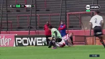 Juan Manuel García puso el 1 a 0 para Unión