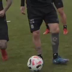 Messi en la práctica de Argentina