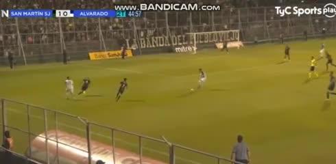 El 1-1 entre San Martín (SJ) y Alvarado