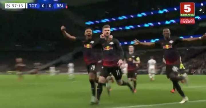 Werner marcó el 1 a 0 del Leipzig