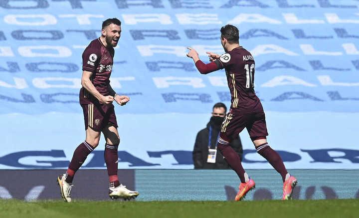 Stuart Dallas y el 1-0 para Leeds sobre el City