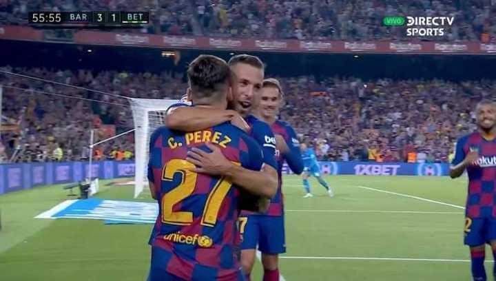 Pérez marcó el tercero de Barcelona