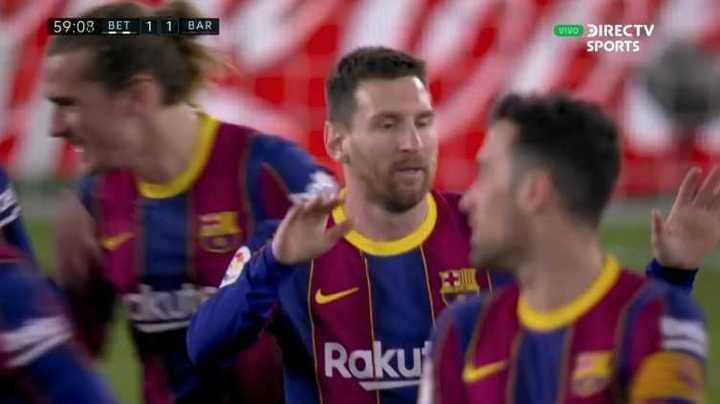 Messi puso el 1-1