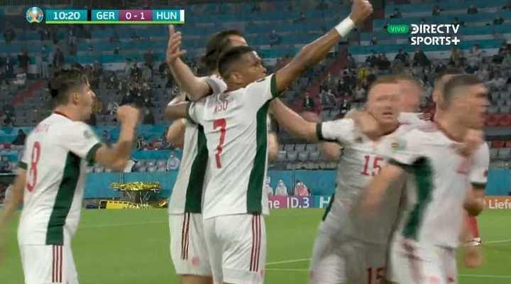 Hungría anotó primero