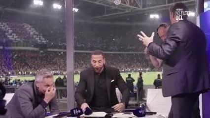 Ferdinand y Lineker festejaron alocadamente el gol del Tottenham junto a Hoddler
