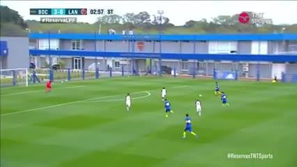 Los cinco goles de Boca a Lanús en Reserva