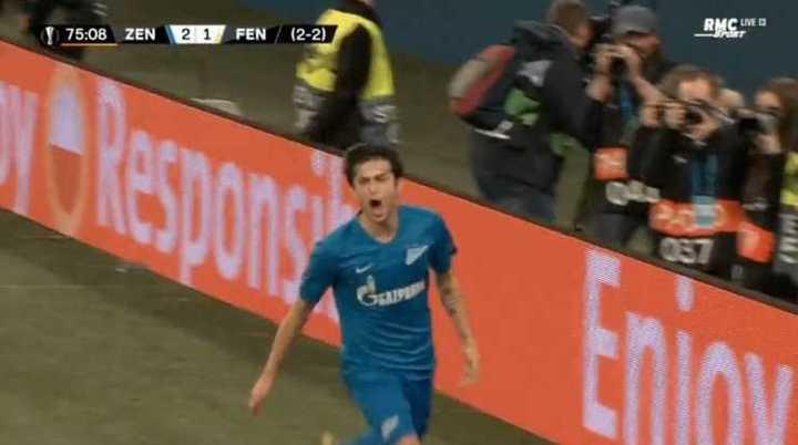 Los goles del Zenit vs Fenerbahce
