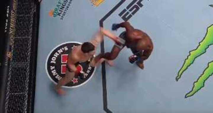 Terrible patada y rotura de ligamentos en UFC