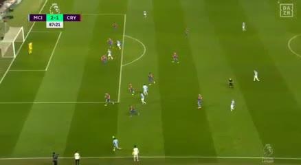 Agüero marcó el segundo ante Crystal Palace