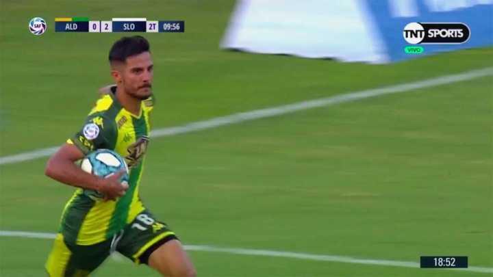 Bertoglio marcó el gol del descuento para Aldosivi