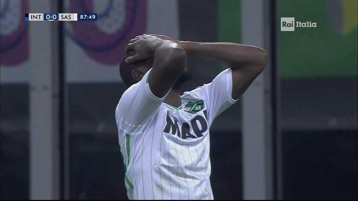 El Sassuolo lo pudo ganar en el final