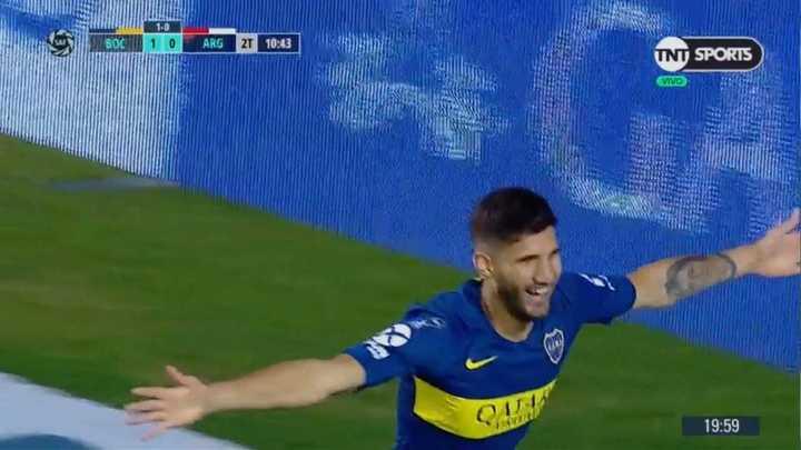 López marcó el primero de Boca