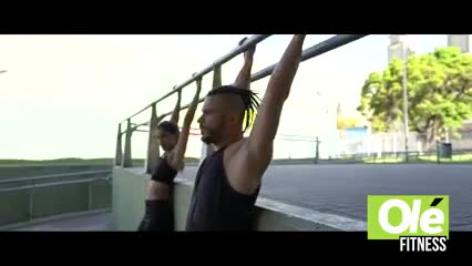 Un ejercicio calisténico aplicado al parkour, es la rutina que hizo Ariel Iglesias para vos