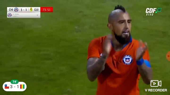 Los goles de Chile 3-Guinea 2.