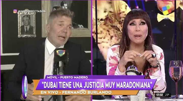 Burlando habló sobre el caso de Maradona y Rocío Oliva