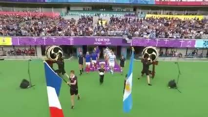 La salida de Los Pumas y Francia a la cancha