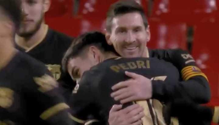 El 3 a 0 de tiro libre de Messi