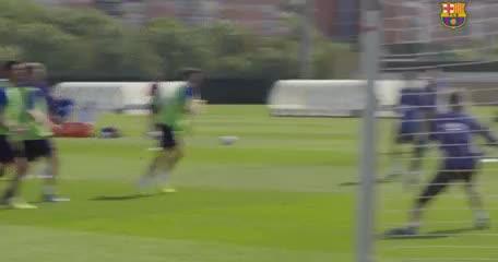 El golazo de Messi en el fútbol reducido