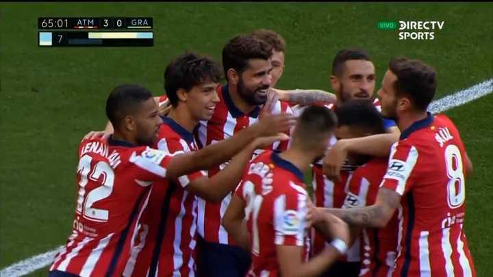 El Atlético estiró la ventaja con gol de Joao Félix