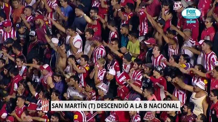 San Martín de Tucumán perdió la categoría y su gente los despidió con aplausos
