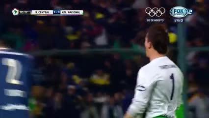 El gol de Montoya a Atlético Nacional en 2016