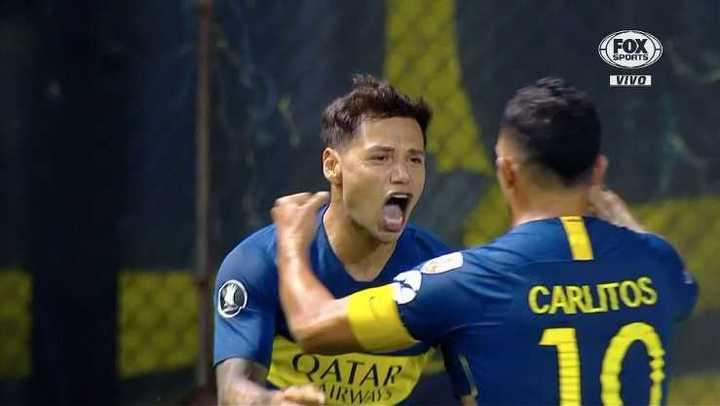 Tremenda contra y gol de Boca