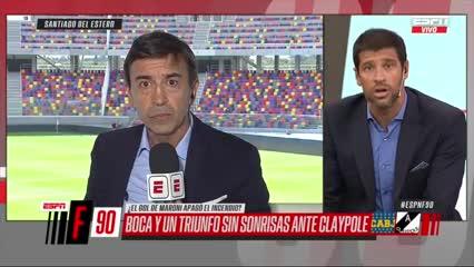 Cruce entre Domínguez y Benedetto en vivo