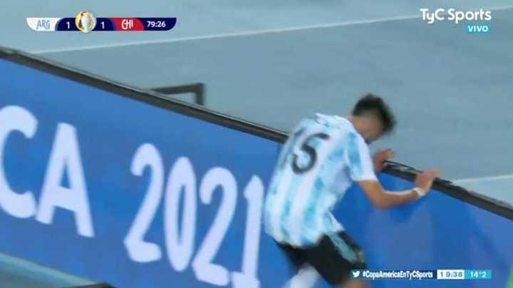 Nico González no pudo de cabeza